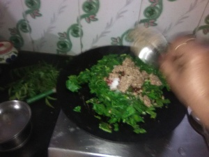 Subji of green radish leaves