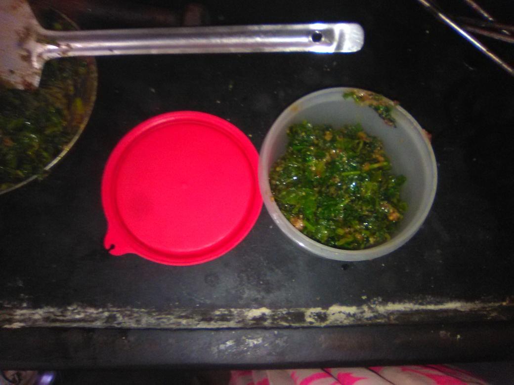 Subji of radish leaves