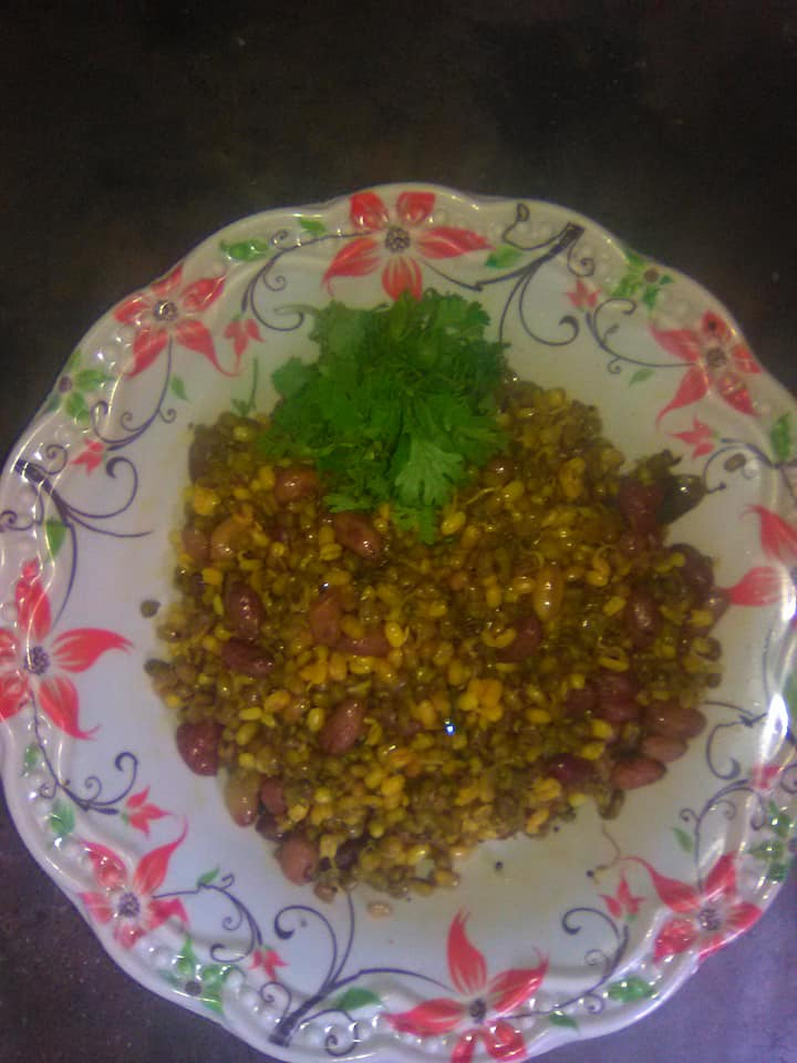 breakfast recipes -sprouted Moong usal/chhayaonline.com