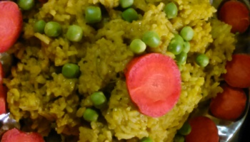 Green Spinach Rice Recipe Indian - Chhaya's Kitchen