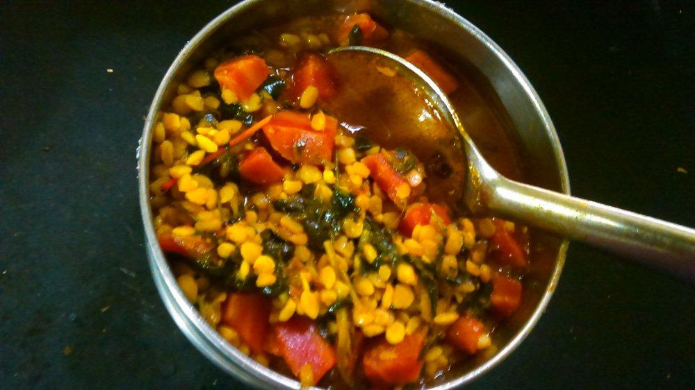 Well prepared curry/ subji [carrot& methi]  /chhayaonline.com