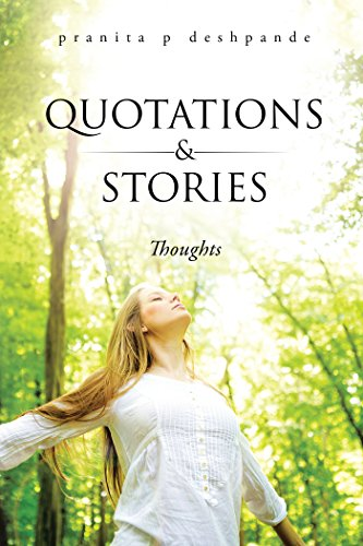 REVIEW OF QUOATIONS & STORIES BOOK BY PRANITA DESHPANDE