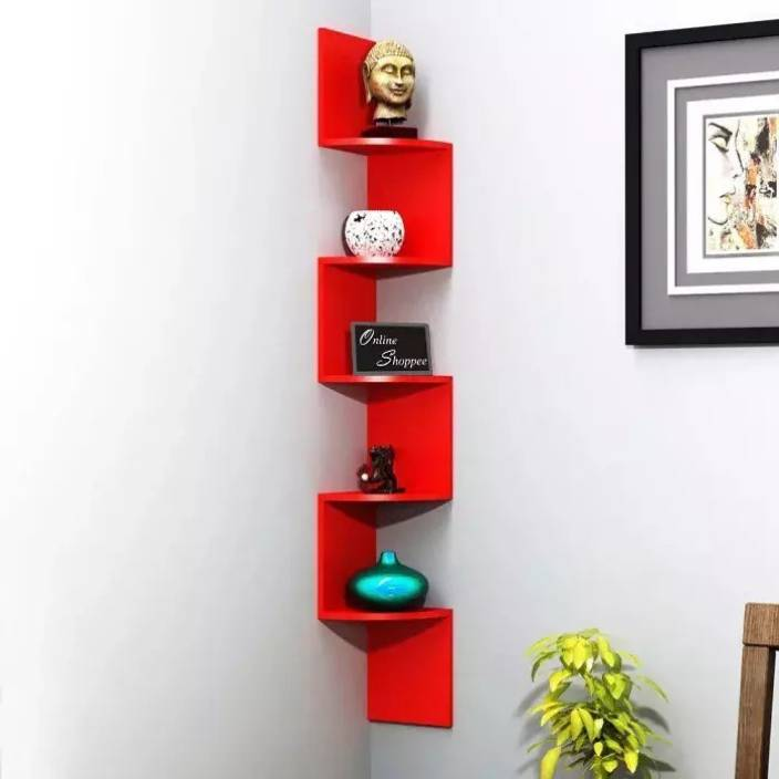Onlineshoppee ZigZag MDF Wall Shelf /chhayaonline.com