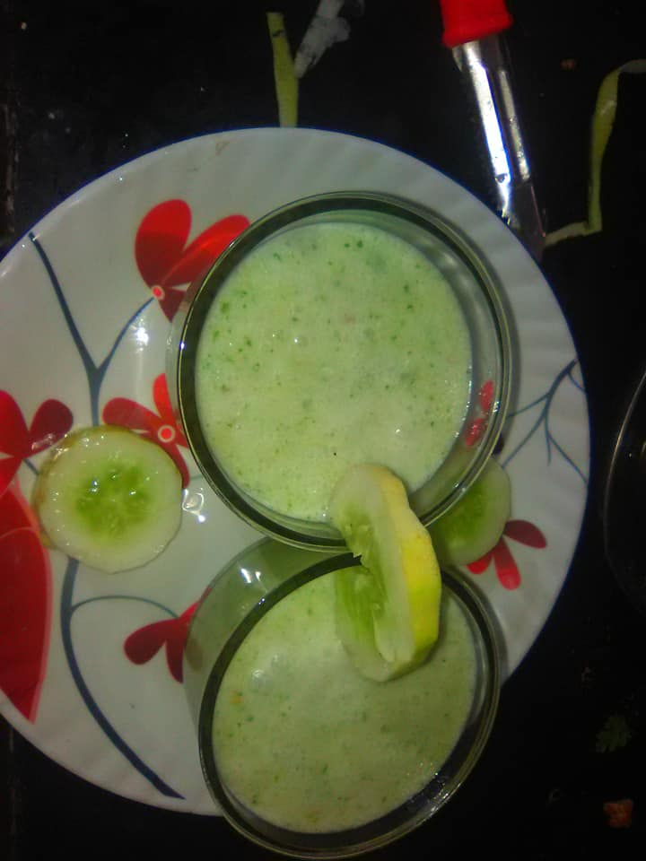 GREEN CUCUMBER LASSI/CHHAYAONLINE.COM