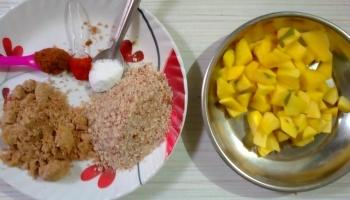 How to make vegan mango curry - Kairus [Marathi]