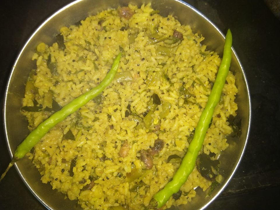 mixedvegetablepulav rice-left over