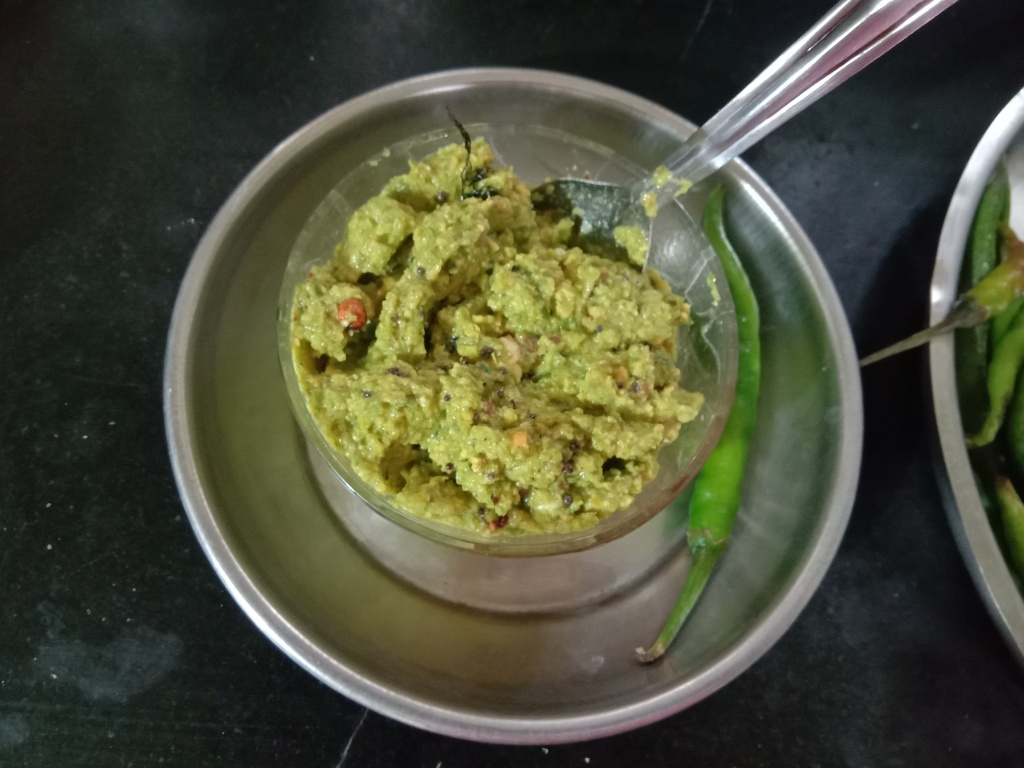 cucumber chutney with green chilli/chhayaonline.com